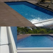 Detalle cubierta piscina